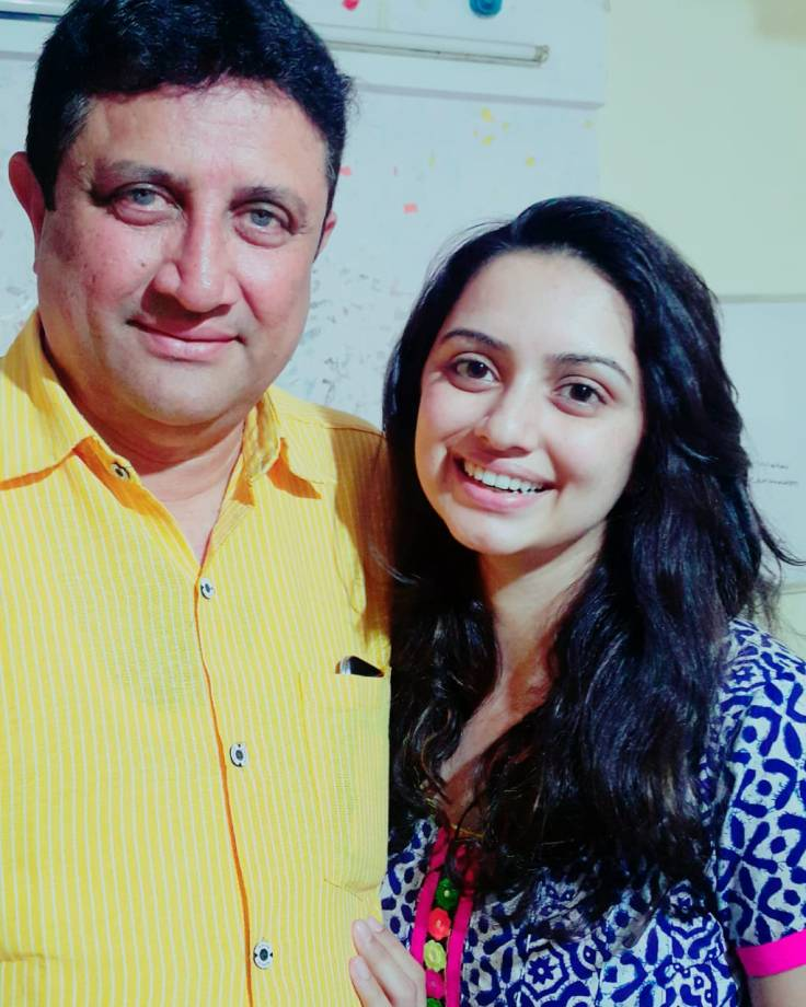 Shruti Marathe with Father