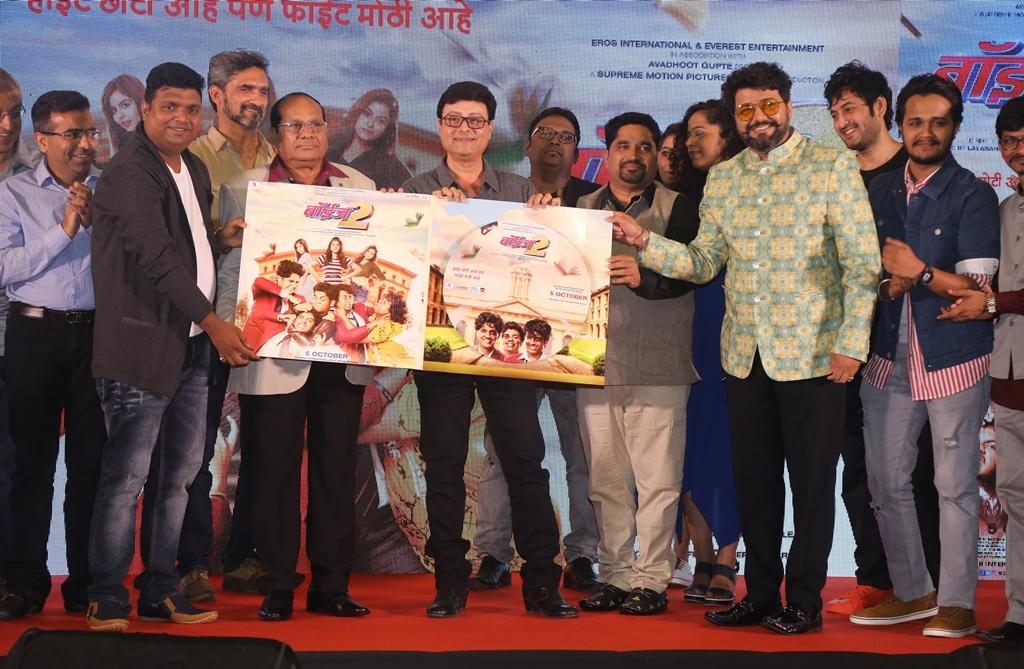 (L-R) Vishal Devrukhkar, Lalasaeb Shinde, Sachin Pilgaonkar, Rajendra Shinde And Avdhoot Gupte